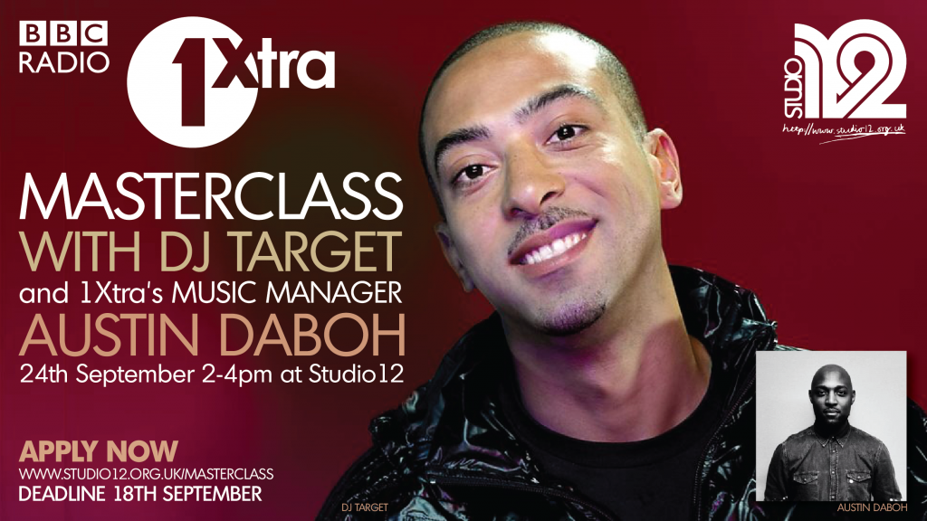 Studio Masterclass with BBC 1Xtra DJ Target, Austin Daboh and Alan Raw