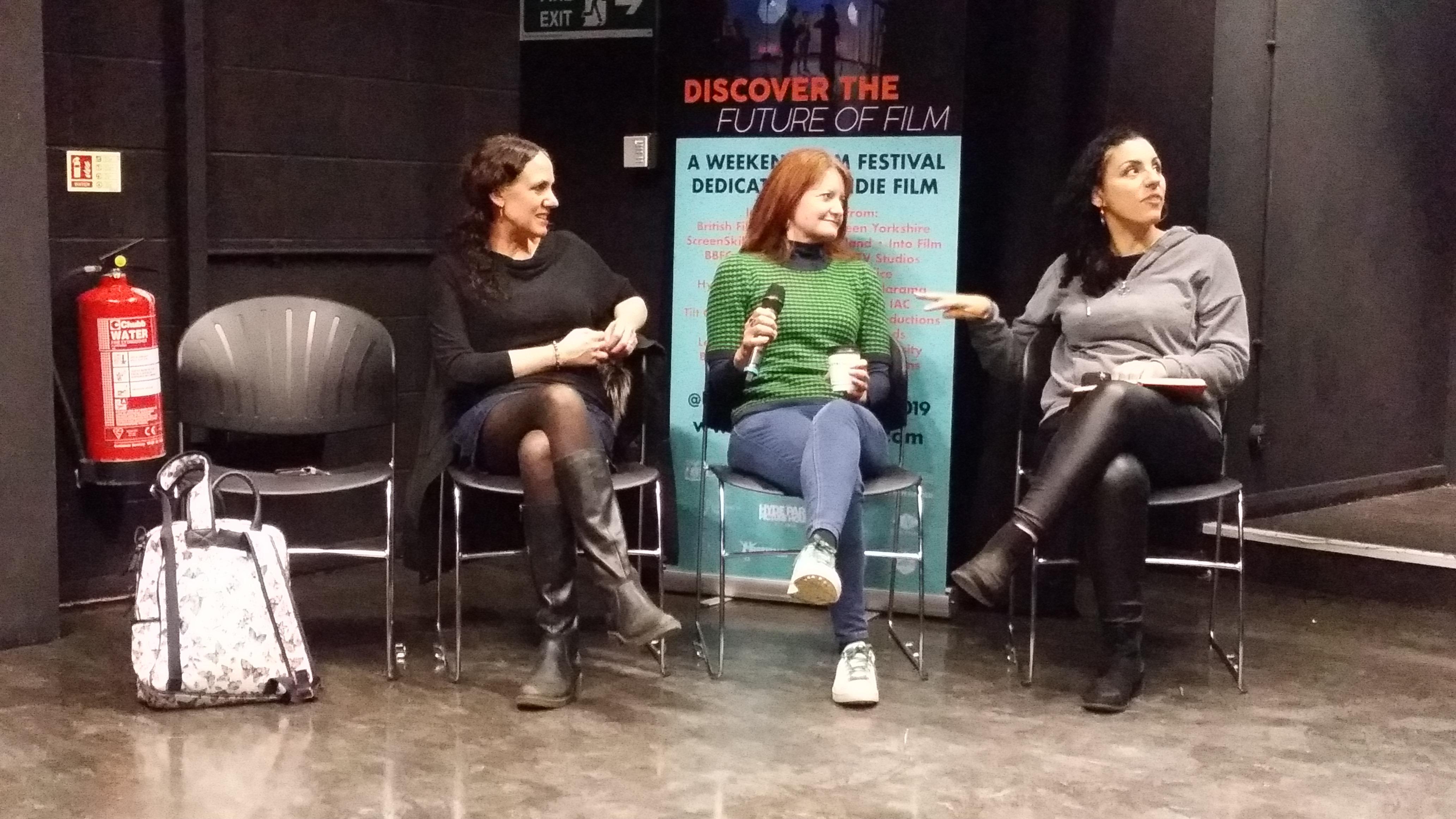 Laura Rossi Christella Litras Nina Humphries INDIs Film Festival Pannel
