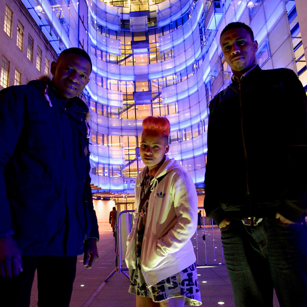 Image of Writing Britain group at the BBC laurch