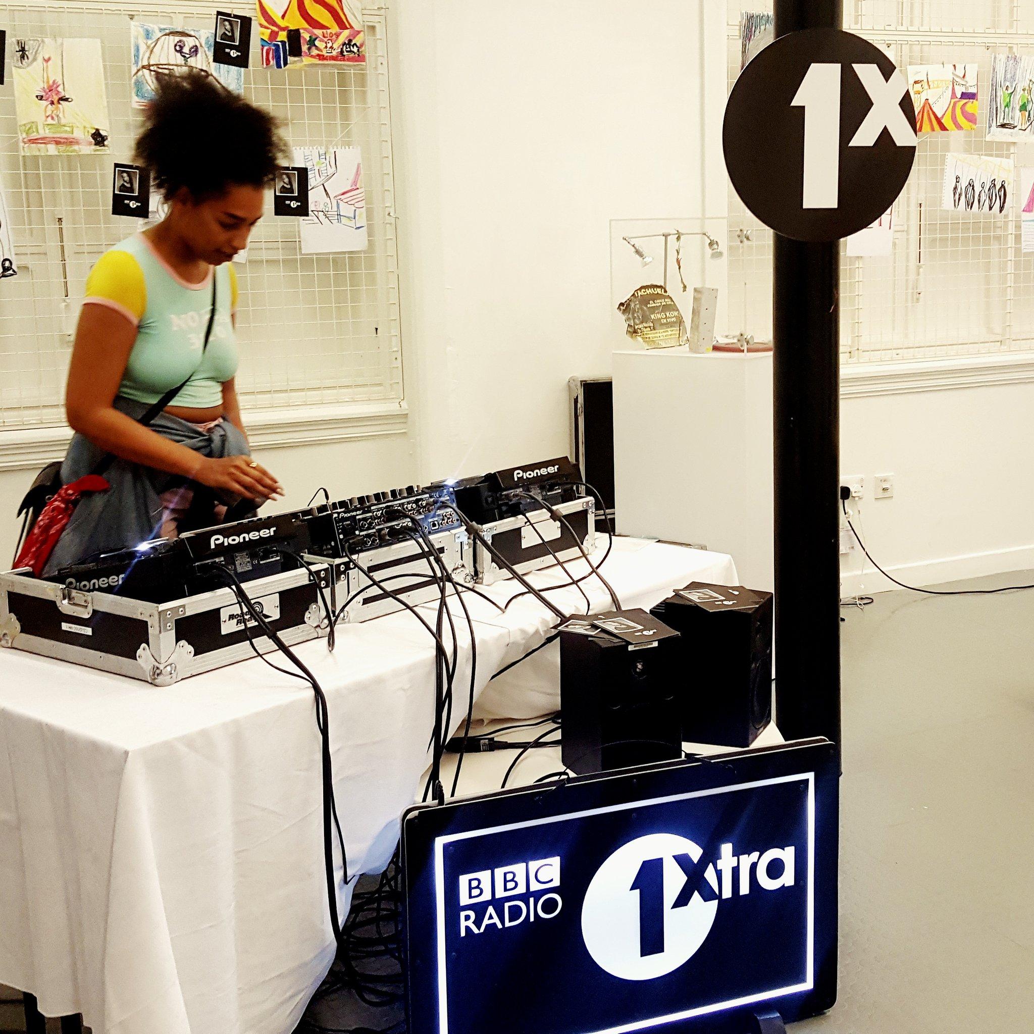Image of women DJing