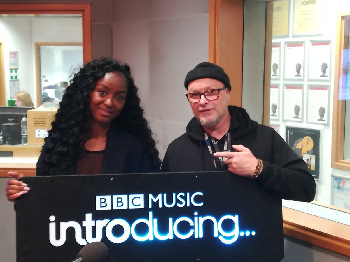 Bianca Gerald at BBC Introducing with Alan Raw