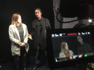 On set Filming in Bradford