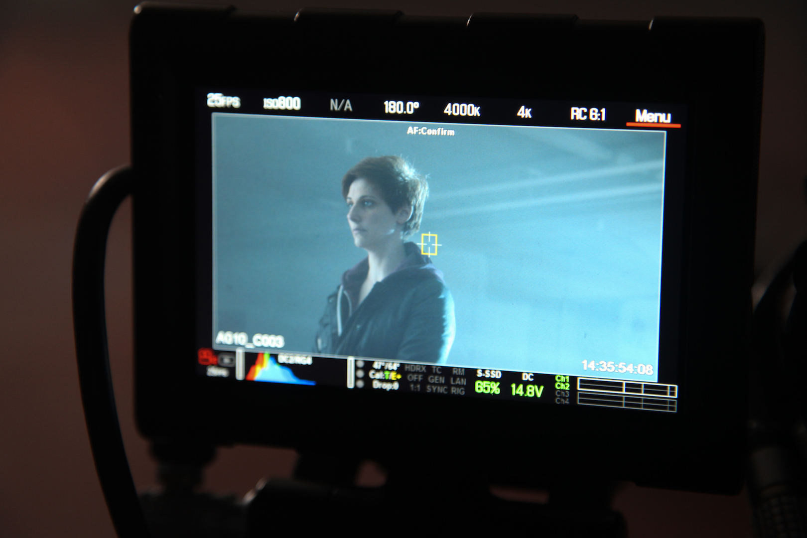 Image of Jess Neale on set